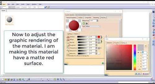 CATIA Tip: Creating your own company specific material catalog