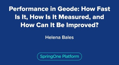 Performance in Geode: How Fast Is It, How Is It Measured, and How Can It Be Improved?