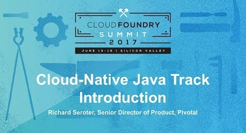 Cloud-Native Java Track Introduction