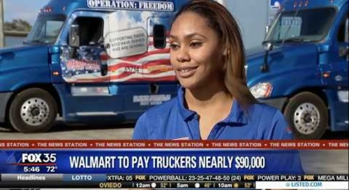 Walmart expected to hire hundreds of truck drivers; increase their average pay to nearly $90K a year