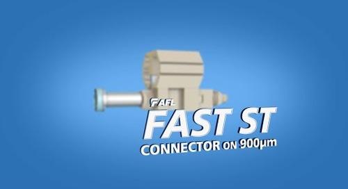 Instructions for AFL FAST ST Connector on 900um fiber cable.