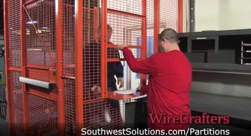 Wire Partition Security Cages for Truck Drivers Entering the Shipping and Receiving Dock Area