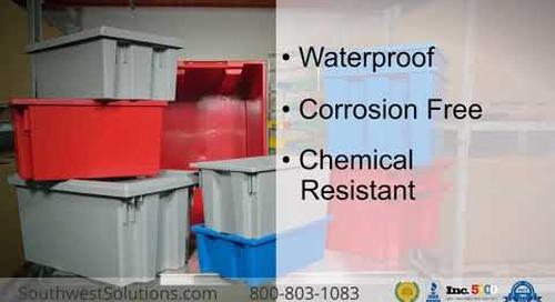 Plastic Stack & Nest Totes   Waterproof Corrosion-Free Storage Bins
