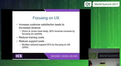 QtWS17 Introduction to User Experience Design for Developers, Jeff LeBlanc, ICS