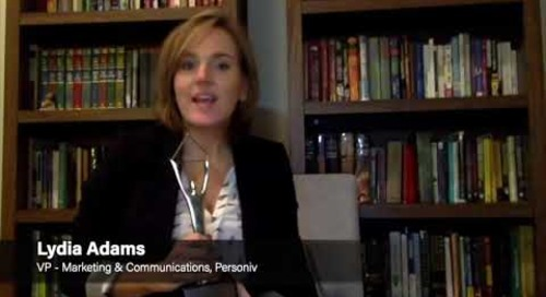 Lydia Adams Wins Gold Award for Marketing Mentor of The Year | Personiv