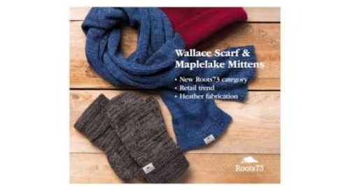 Roots73 Wallace Knit Scarf and Maplelake Knit Mittens