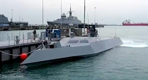 Singapore Navy's new high speed naval interceptor Specialised Marine Craft