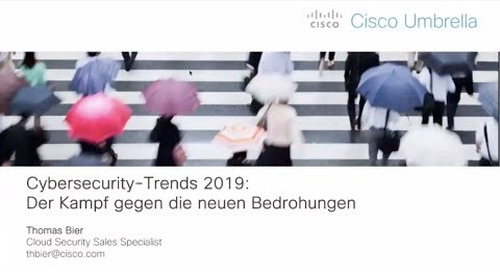 Webinar: Cybersecurity Trends 2019