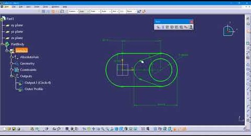 Sketcher Outputs in CATIA V5