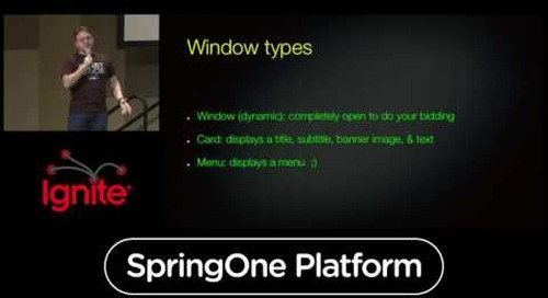 Want to Know How to Control a Cloud-Based App from Your Wrist?, Ignite Talk — Mark Heckler