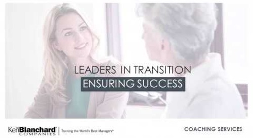 Supporting Leaders in Transition with Coaching