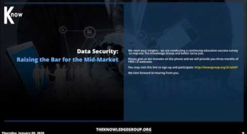 Data Security: Raising the Bar for the Mid Market