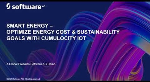 Smart Energy Optimization – a closer look  | Software AG