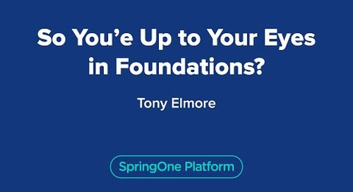 So You're Up to Your Eyes in Foundations?