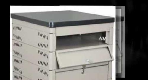 Locking Laptop Computer Storage Racks, Carts, Shelving, Cabinets