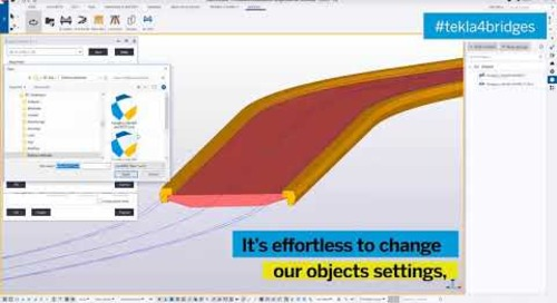 How to Update the Bridge Model after Road Alignment Change - Tekla for Bridge Design