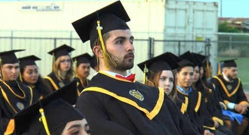 Star quarterback beats brain cancer and graduates