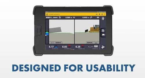 Trimble Earthworks for Dozers: UI/UX