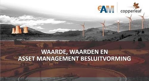 Webinar: Waarde, waarden en Asset Management besluitvorming (Dutch)