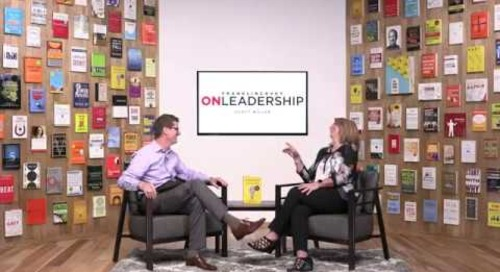 Liz Wiseman in Studio for FranklinCovey On Leadership