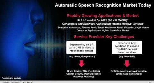 [WEBINAR] In-Call Speech Recognition  Ready for Mass Markets