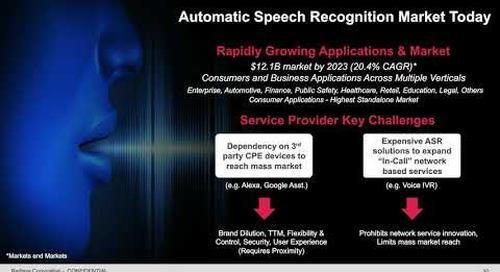 [WEBINAR] In-Call Speech Recognition  Ready for Mass Markets