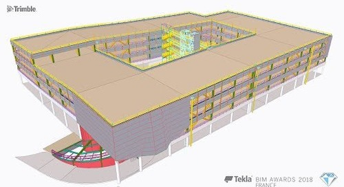 Tekla France BIM Awards 2018 - NORMACADRE : Ville de Gap, parking de Bonne