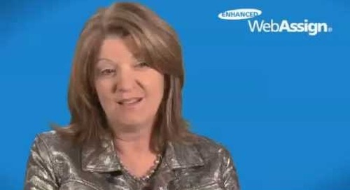Enhanced WebAssign Instructor Testimonial: Rochelle Beatty