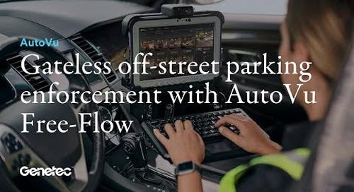 Gateless off-street parking enforcement with AutoVu Free-Flow