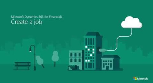 Set up a project & manage jobs in Microsoft Dynamics 365 for Finance & Operations, Business edition