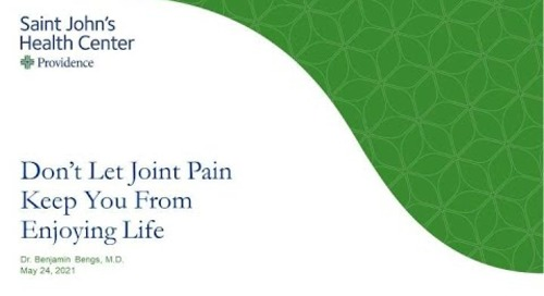 Don't Let Joint Pain Keep You From Enjoying Life Webinar