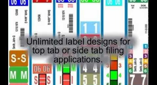 Color Coded File Folder Labels | Filing Label Print Software