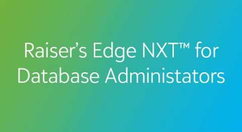 Raiser's Edge NXT for Database Managers