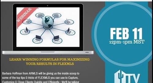 Winning Formulas in FLEXMLS Webinar 2.11.2015