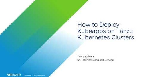 How to Install Kubeapps Using vSphere with Tanzu and Tanzu Kubernetes Clusters
