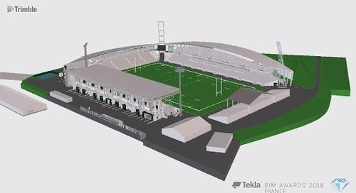 Tekla France BIM Awards 2018 - CANCE : Stade du Hameau