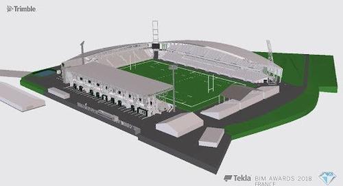 Tekla France BIM Awards 2018 - CANCE : Stade du Hameau