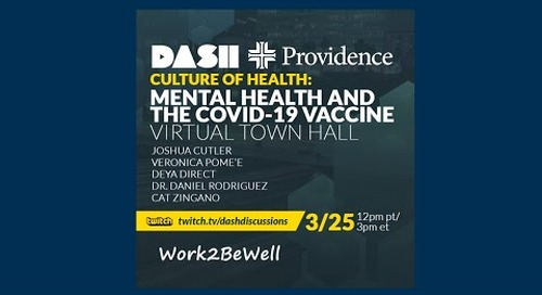 Mental Health and the COVID-19 Vaccine  – Virtual Town Hall
