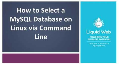 Select a MySQL Database on Linux via Command Line