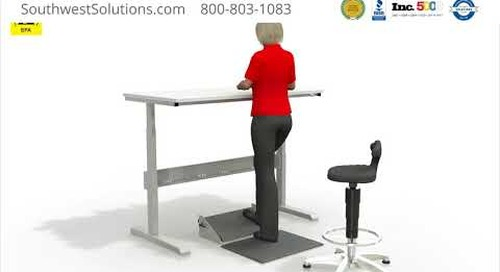 Sitting & Standing Adjustable Motor Table ESD Workstations