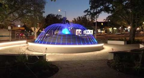 New Sunbury fountain