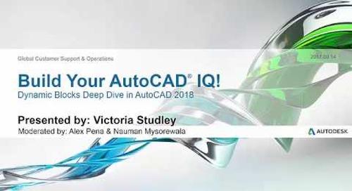 Webinar: Dynamic Blocks Deep Dive in AutoCAD 2018 | AutoCAD LT