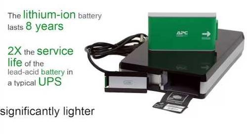 APC by Schneider Electric - Lithium-Ion UPS Advantages