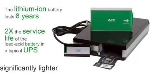 APC by Schneider Electric - Lithium-Ion UPS Advantages