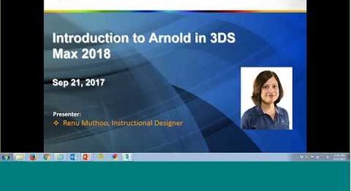 Introduction to Arnold in Autodesk 3ds Max