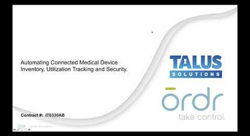 [CHA Webinar] Automating Connected Medical Device Inventory, Utilization Tracking and Security