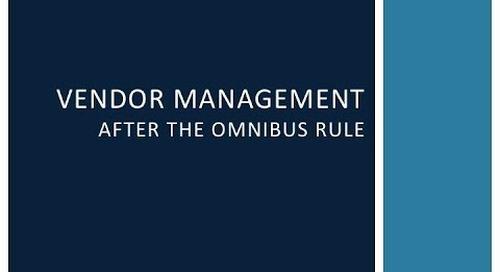 Vendor Security Management After the Omnibus Rule