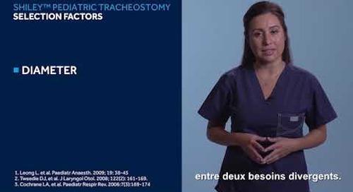 Guide de mise en service - Tubes de trachéotomie pédiatriques Shiley