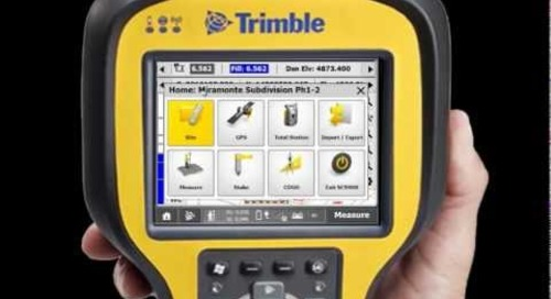 Trimble SCS900 Overview