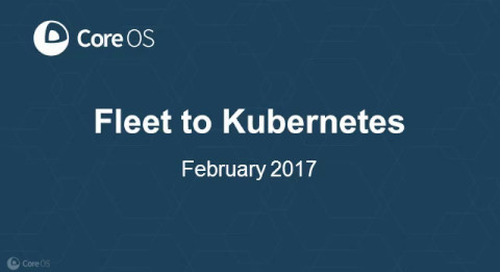 Moving From Fleet to Kubernetes